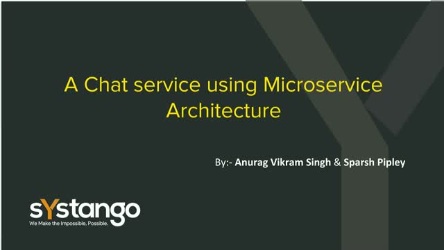 Building Chat service using Microservices Architecture