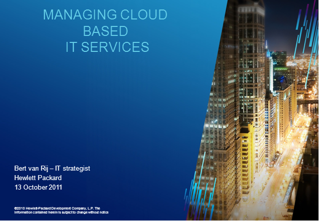 Cloud-based IT Services – Consequences & Implications
