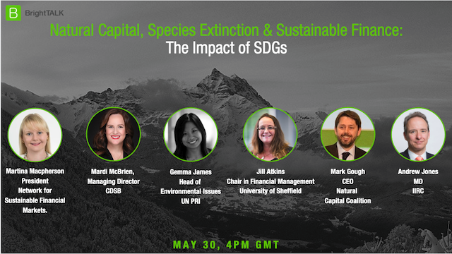 Natural Capital, Species Extinction & Sustainable Finance - The Impact of SDGs