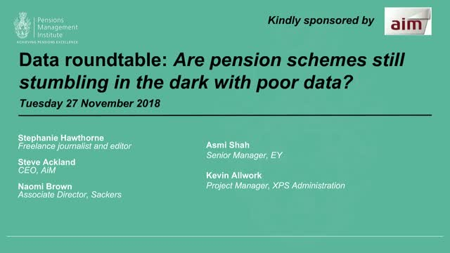 Are pension schemes still stumbling in the dark with poor data?