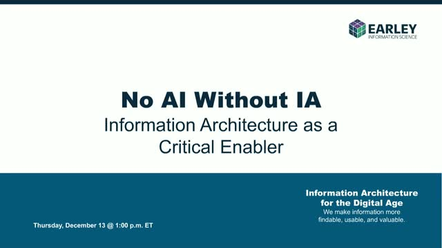 There's No AI Without IA