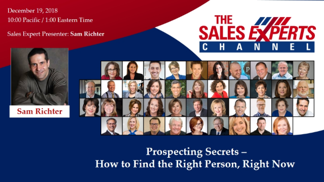 Prospecting Secrets – How to Find the Right Person, Right Now