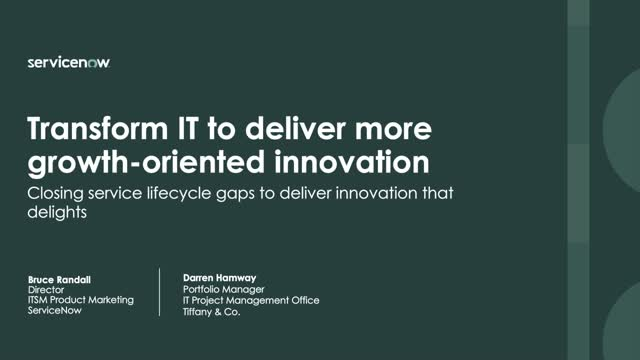 Transform IT to deliver more growth-oriented innovation