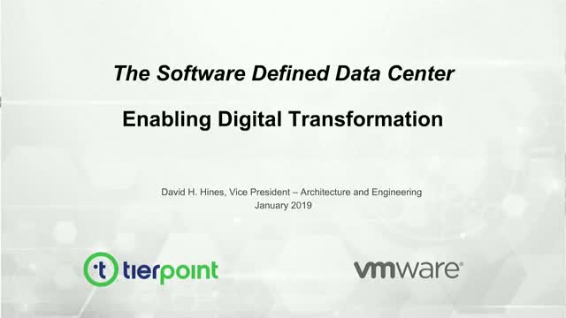 The Software-Defined Data Center: A Foundation for Digital Transformation
