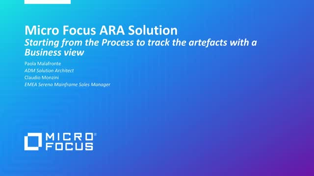 Micro Focus ARA: Automating Software Delivery