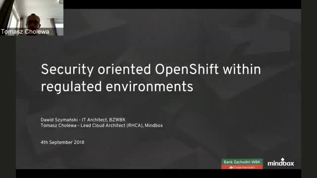 Security-oriented OpenShift within regulated environments