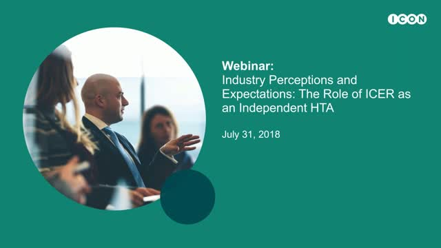 Industry Perceptions and Expectations - The Role of ICER as an Independent HTA