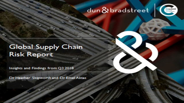 Global Supply Chain Risk Report: Insights and Findings from Q3 2018