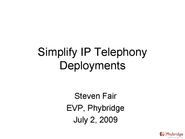 Simplify IPT Deployments: Reuse Existing Voice Infrastructure