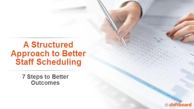 A Structured Approach to Better Staff Scheduling