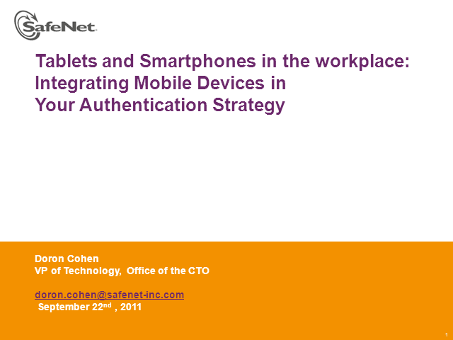 EMEA: Tablets and Smartphones in the workplace