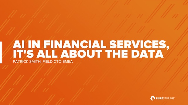 AI in Financial Services, it's all about the data