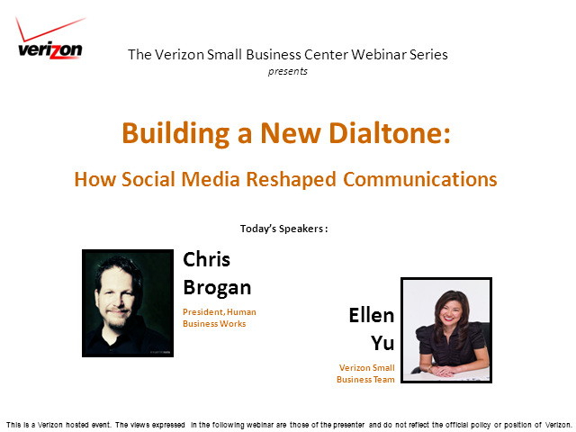 """Building a New Dialtone:  How Social Media Reshaped Communications"""