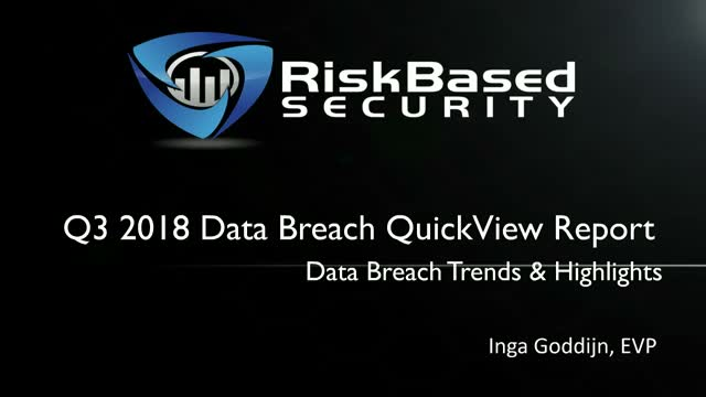 Q3 2018 Data Breach QuickView Report Review