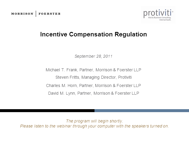Incentive Compensation Regulation