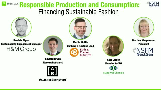 Responsible Production and Consumption – Financing Sustainable Fashion