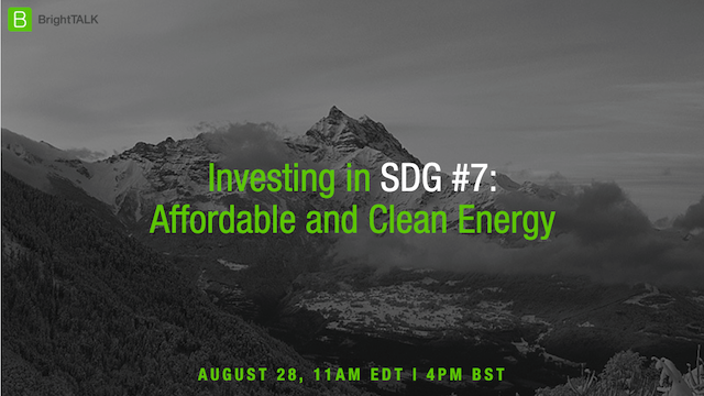 Investing in SDG #7: Affordable and Clean Energy