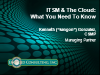 ITSM & The Cloud: What You Need to Know