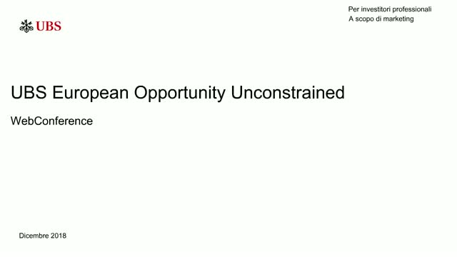 WebConference: UBS European Opportunity Unconstrained
