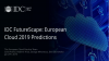 IDC FutureScape: European Cloud 2019 Predictions
