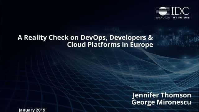 A Reality Check on DevOps, Developers & Cloud Platforms in Europe