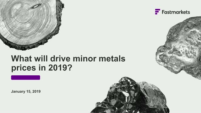 Reflecting the market: minor metals pricing and 2019 trends