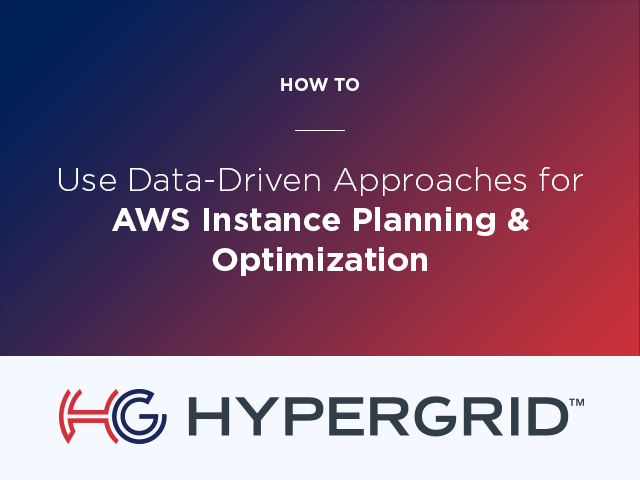 AWS Instance Planning & Optimization