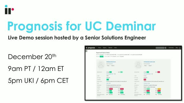 Prognosis for UC Live Demo [December 2018]
