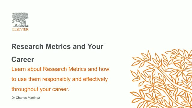 Research Metrics and Your Career