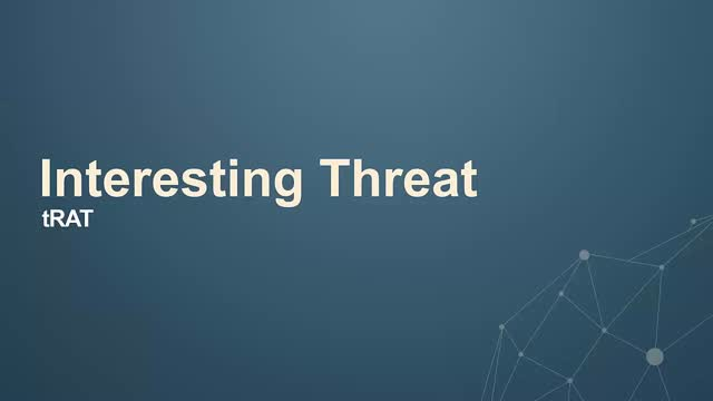 Weekly Threat Byte | tRAT the Trojan