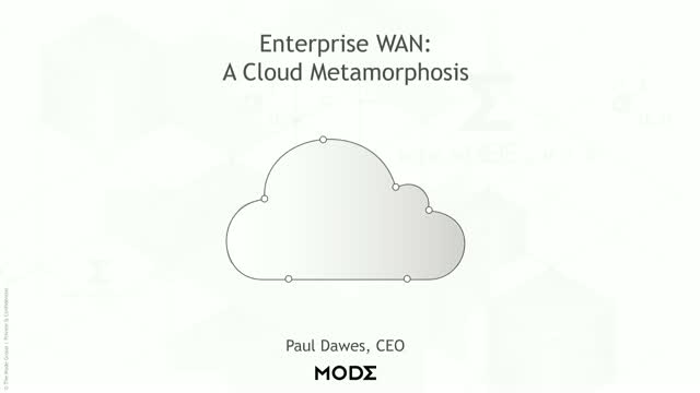 Enterprise WAN in the Cloud Era