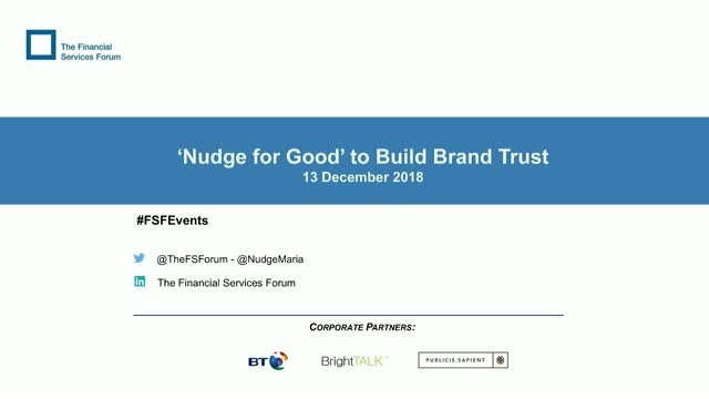 'Nudge for Good' to Build Brand Trust