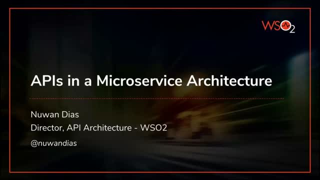 APIs in a Microservice Architecture