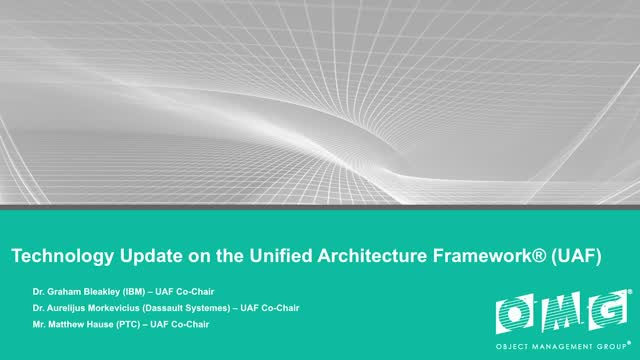 Unified Architecture Framework® (UAF®)