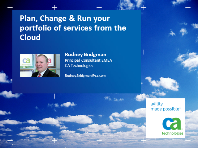 Planning, Changing and Running Your Portfolio of Cloud Services
