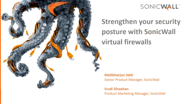 Strengthen your security posture with SonicWall virtual firewalls