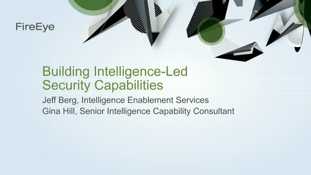 How to Build Intelligence-Led Security Capabilities