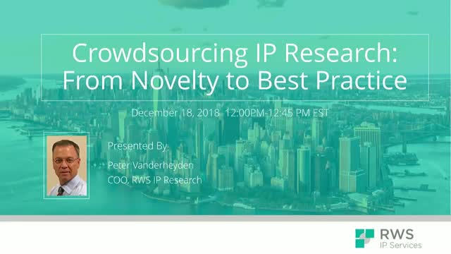 Crowdsourcing IP Research: From Novelty to Best Practice