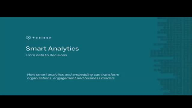 Smart Analytics: From data to decisions