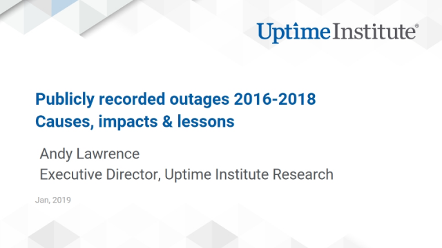 Data Center Outage Trends, Causes and Costs