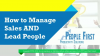How to Manage Sales AND Lead People