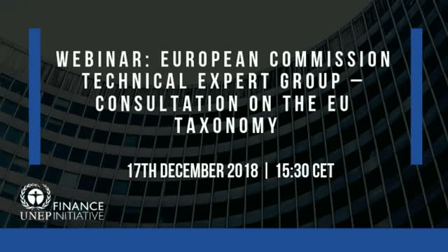 European Commission Technical Expert Group: Call for Feedback on the EU Taxonomy