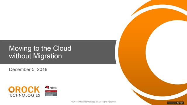 Moving to the Cloud without Migration