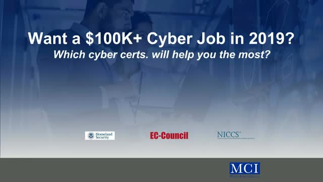 Learn Which Cyber Certs will get you a $100K Job