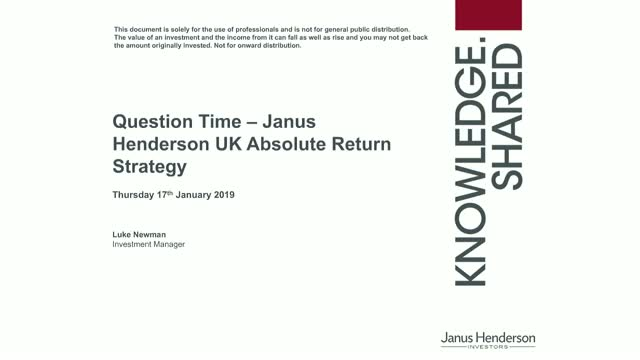 Q&A Session: Janus Henderson UK Absolute Return Strategy