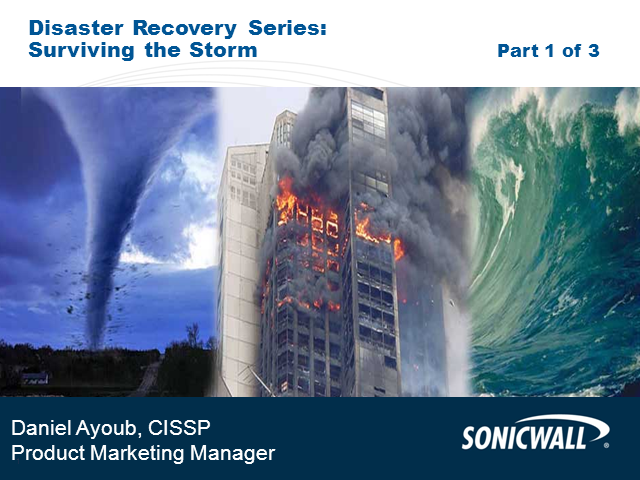 Disaster Recovery Classroom Session: Part 1- Surviving the Storm
