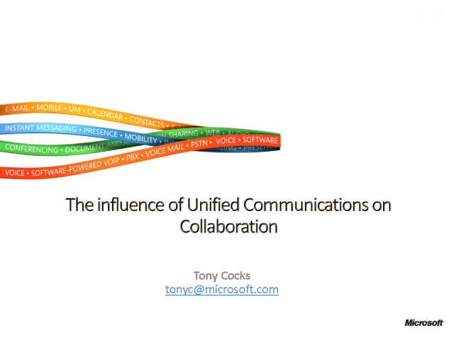 The Influence of Unified Communications on Collaboration