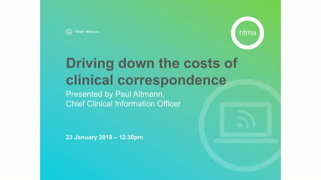 Driving down the costs of clinical correspondence