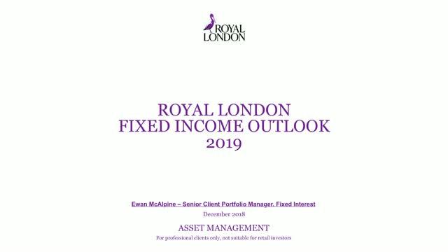 Fixed income outlook 2019
