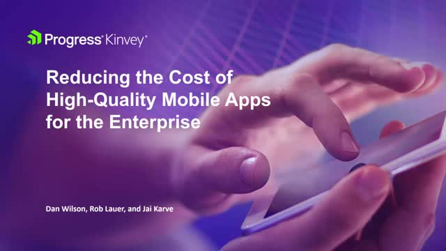 Reducing the Cost of Enterprise-Grade Mobile Apps